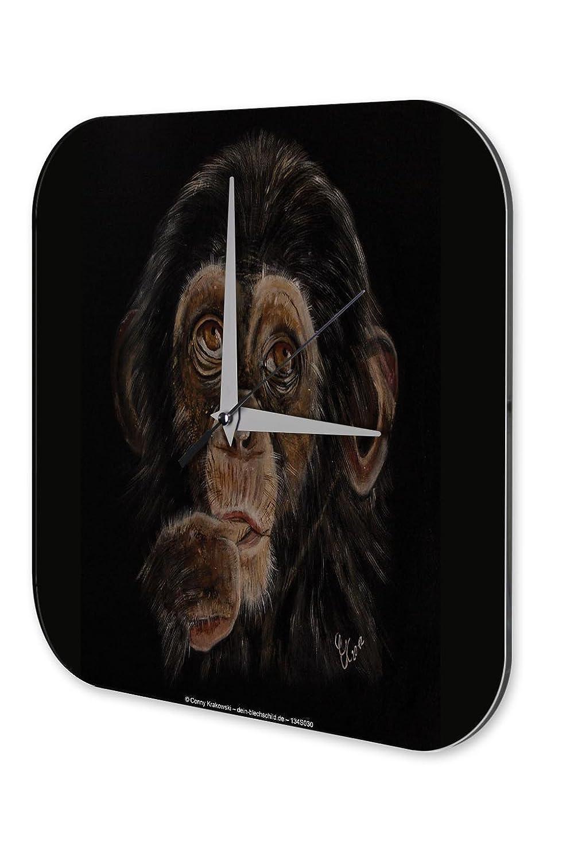 Wanduhr Deko Kinderzimmer Marke Affe Schimpanse Dekouhr 25×25 cm bestellen