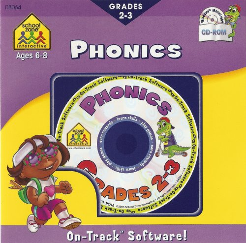 School Zone On-Track Software Phonics Grades 2-3