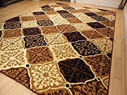 Modern Area Rugs Multicolored Rug Large 8x11 Rugs Dining Room Contemporary Rugs for Living Room Rugs 8x10 Clearance Under 100 (Large 8\'x11\' Rug)
