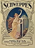 Vintage Fine Art SCHWEPPES SODA WATER AND DRY GINGER ALE Reproduction Poster on 200gsm A3 Satin Art Card