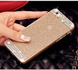 iPhone 6 Plus Case ,LA GO GO(TM) Beauty Luxury Diamond Hybrid Glitter Bling hard Shiny Sparkling with Crystal Rhinestone Cover Case for Apple iPhone 6 Plus (5.5) - Retail Packaging (Gold, iPhone 6 Plus)