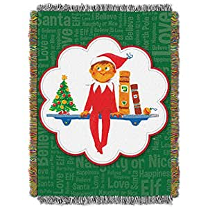 Amazon.com: The Elf on the Shelf, Xmas Tradition Tapestry Throw by The