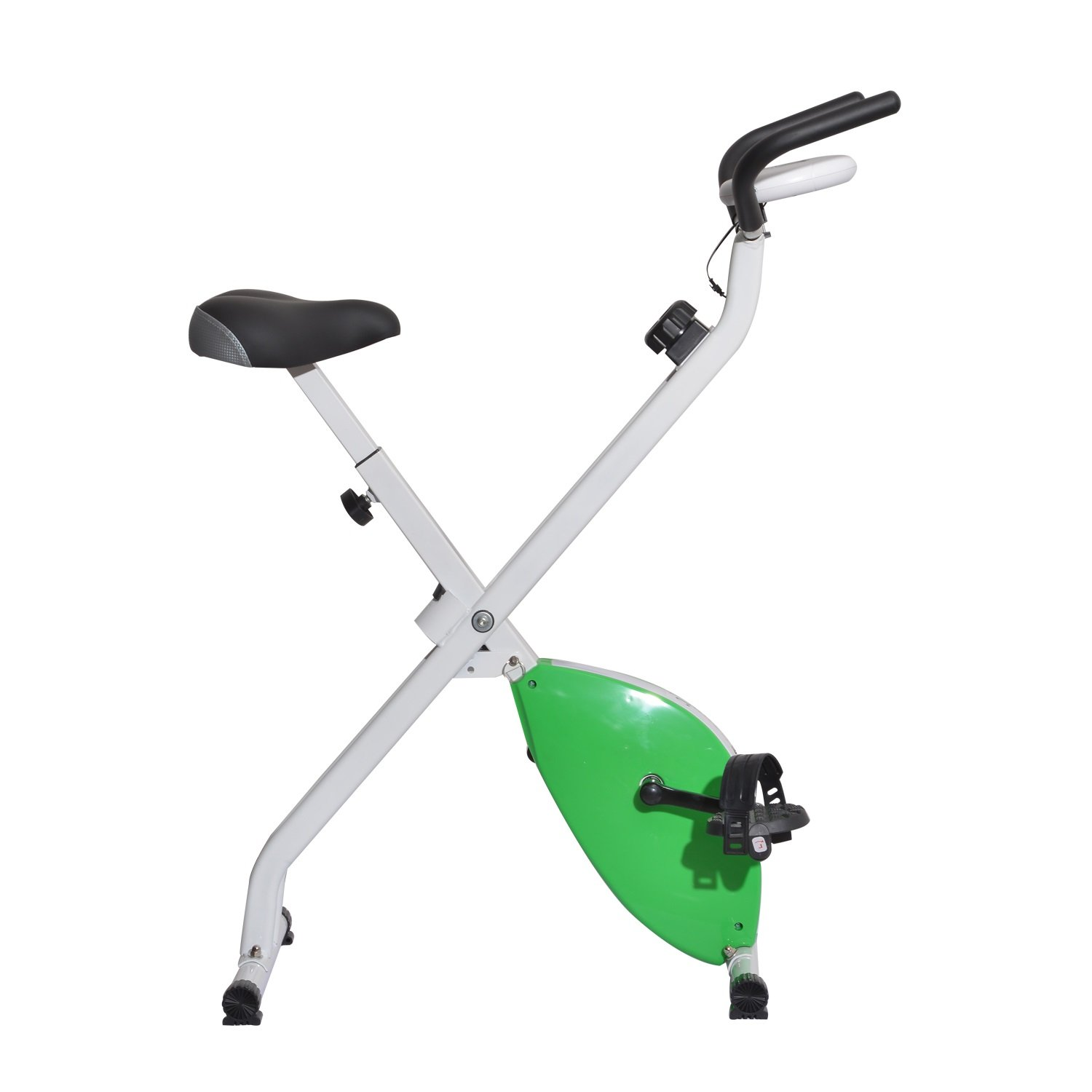 Soozier Indoor Upright Magnetic Exercise Bike w/ LCD Monitor - Green and White at Sears.com