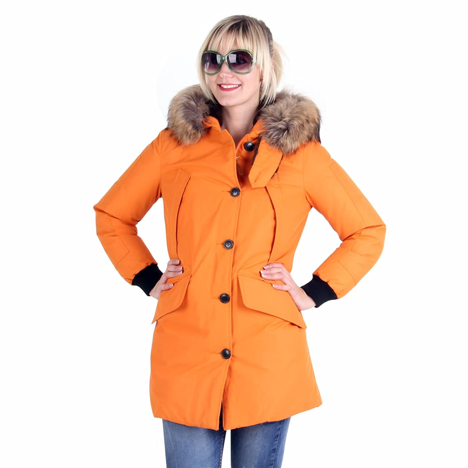 MUSEUM Damen Winter Daunenparka Orange MD19481