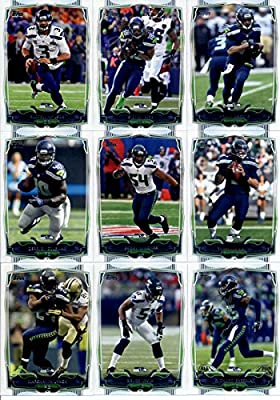2014 Topps Football Cards Seattle Seahawks Team Set (17 Cards): Russell Wilson Sidney Rice Percy Harvin Derrick Coleman Team Card Bobby Wagner Terrelle Pryor Marshawn Lynch Bruce Irvin SB Champions Richard Sherman Earl Thomas Steven Hauschka Malcolm Smith