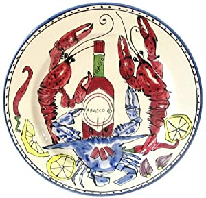 Home ETC 83518 Seafood Medley Platter, Round by Home ETC