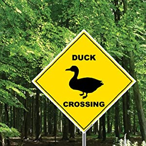 "Amazon.com : Duck Crossing Sign - 22"" Diamond Shaped : Yard Signs"