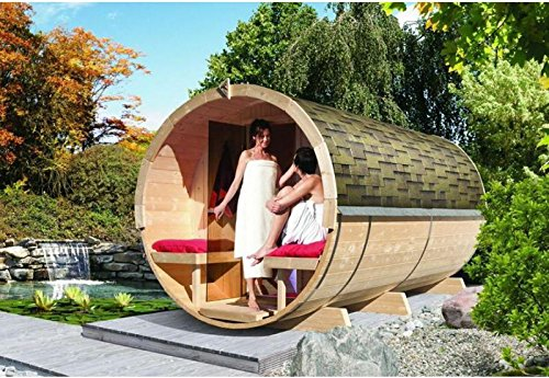 Karibu Fass - Sauna 4 42 mm ohne Ofen -...