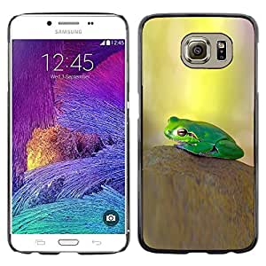 Omega Covers - Snap on Hard Back Case Cover Shell FOR Samsung Galaxy S6 - Pastel Yellow Green Nature