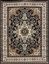 Traditional Isfahan Persian Area Rugs Black 710 x 105