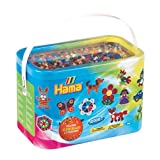 Hama Beads 10,000 Beads and 5 Pegboards Tub (Color: Mixed, Tamaño: midi beads)