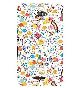 EPICCASE joy of celebration Mobile Back Case Cover For Sony Xperia E4 (Designer Case)