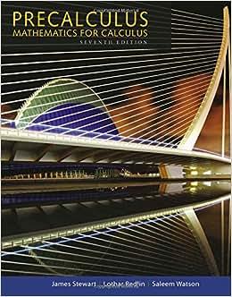 Stewart precalculus 6th redlin watson edition pdf