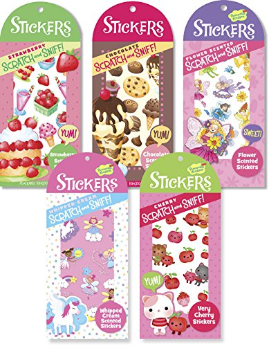 Peaceable Kingdom Pretty Sweet Scratch and Sniff Sticker Party Assortment