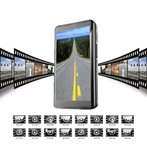 HKXLT- Dual Dash Cam,Car DVR Camera,1080p Effort H6 HD Front and Rear Night Vision Car Camera, 1080p+720p Dual Lens Night Vision Dash Cam Video Recorder,3.5 IPS Touch Screen Dual Lens .(V350) (Color: V350)