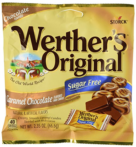 Werther's Original Caramel Chocolate Sugar Free Hard Candies 2.35 oz