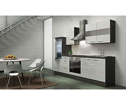 respekta appliances 270 CM Grey Oak Replica High-Gloss White