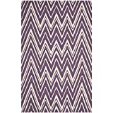 Safavieh Cambridge Collection CAM711P Handmade Purple and Ivory Wool Area Rug, 8 feet by 10 feet (8' x 10')
