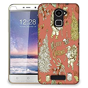 Snoogg Merry Christmas Red Designer Protective Phone Back Case Cover For Coolpad Note 3 Lite