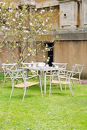 My Furniture - Milos Aluminium and Rattan outdoor Dining Set 6 seats TAUPE