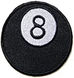 8 Eight Lucky Number Ball Pool Billiard Logo Biker Lady Biker Rider Tatoo biker patch Sew Iron on Embroidered