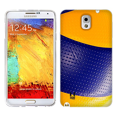 Head Case Designs Volleyball Ball Collection Gel Back Case Cover for Samsung Galaxy Note 3 N9000 N9002 N9005