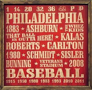 "Philadelphia Phillies Vintage Sports Wall Decor 18""x18"" Wood Sign"