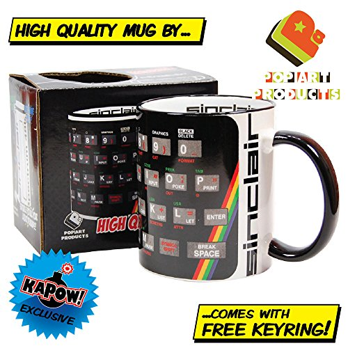 Sinclair ZX Spectrum mug gift with free keyring.