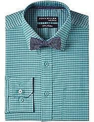 John Miller Men's Formal Shirt (8907130959715_1Os86602_42_Green)
