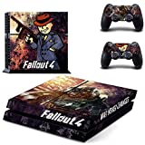 Beyone Vinyl Decal Protective Skin Cover Sticker for Sony PS4 Console And 2 Dualshock Controllers - Fallout 4