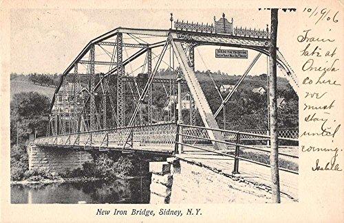 Sidney New York New Iron Bridge Antique Postcard J41283