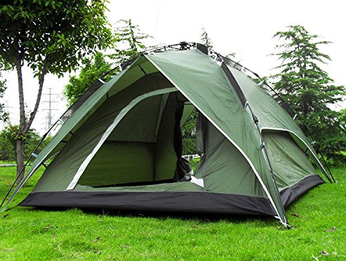 4-Person Double layer Waterproof Family Camping Hiking Instant Tent Green (Quest 6 Person Instant Tent compare prices)