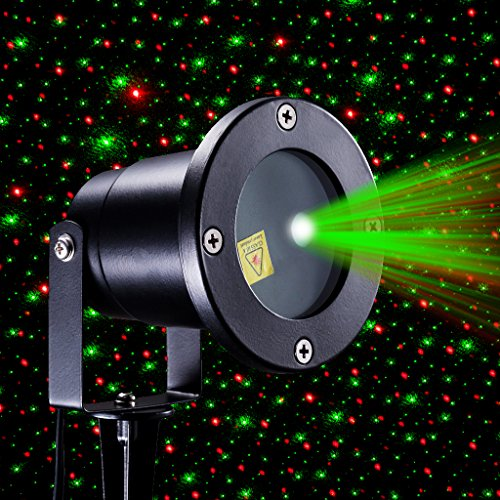 Xtf2015 Red And Green Sparkling Star Stage Light IP65 Waterproof Outdoor Chri
