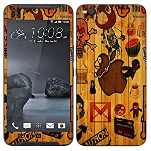 Theskinmantra Caution mobile skin for HTC One X9