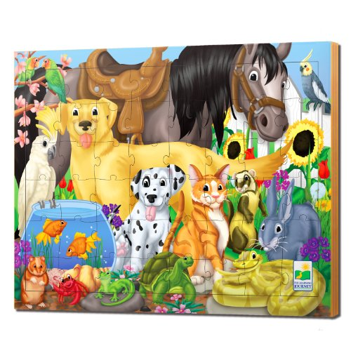61 EpiQWrCL Cheap  The Learning Journey 48pc Lift & Discover Jigsaw Puzzle Animal Friends