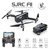 ElementDigital F11 RC Foldable Quadcopter Drone iOS Android App Operation 1080P 5G WiFi Camera Record Video 1-Key RTH Altitude Hold Track Flight Headless Brushless Motor, Adjustable Camera Angle (Color: Sjrc F11)