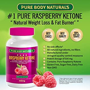 1 Pure Raspberry Ketones1000 Mg Per Serving 100 Pure All Natural Appetite Control Suppressant Supplements Diet Pills For Men And Women Dr Oz Recommended Lean Organic Ingredients - Best Proven Weight Loss Benefits Formula - Top Reviews Lose Weight Fast Wit