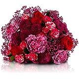 Blumenstrauß Romantischer Bote | Versandkostenfrei - Liefertermin zum VALENTINSTAG wählbar | Designed von der Floristik-Europameisterin | Gratis-Grußkarte & Geschenkverpackung