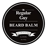 Beard Balm Conditioner Softener - All Natural Fragrance Free - Styles, Softens, Strengthens and Promotes Healthy Beard & Mustache Growth - Leave In Conditioner Wax Moisturizes Skin & Facial Hair (Color: Black Fragrance Free, Tamaño: 2 oz)