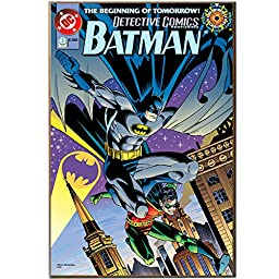 Silver Buffalo BN3336 DC Comics Batman Beginning of Tomorrow Wood Wall Art Plaque, 13 by 19-Inch