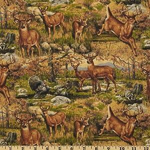 Hautman Deer Wild Brown Fabric