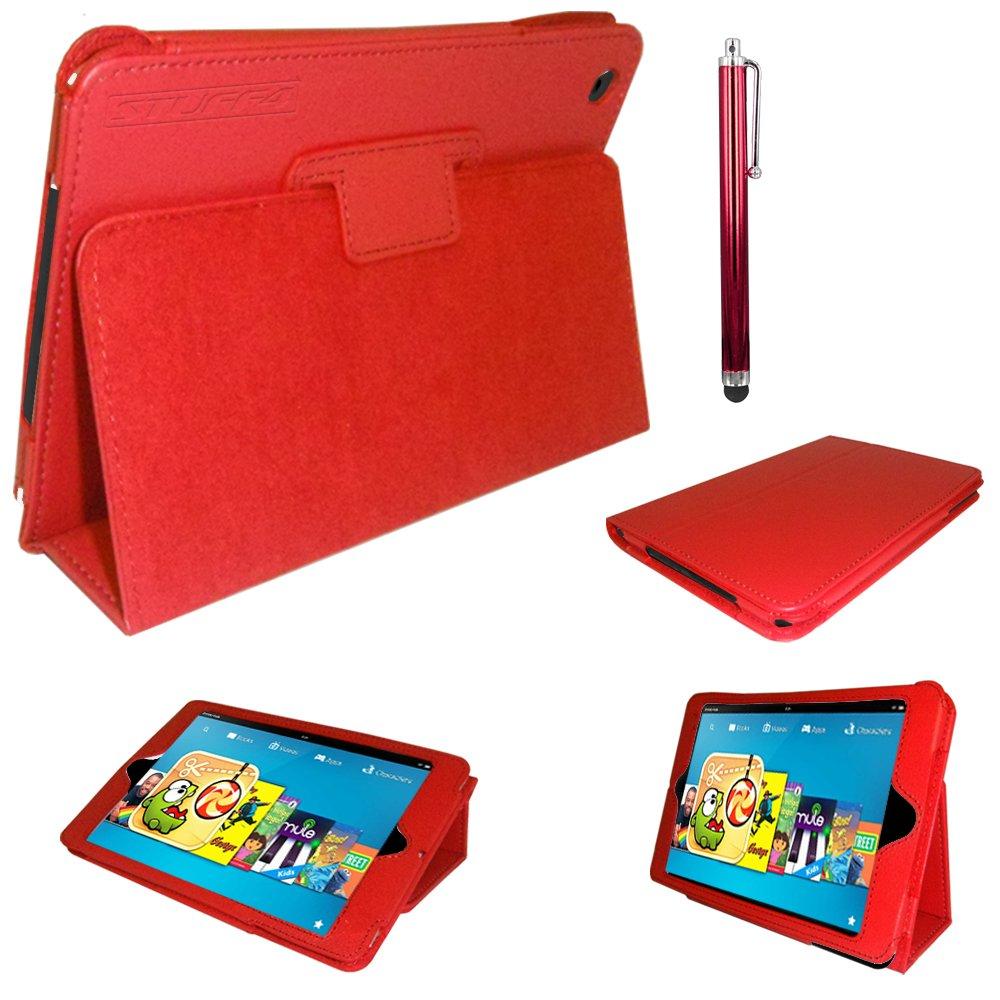 Stuff4 MR-KFHD8.9-LMAG-R-STY-SP - Funda para tablet, rojo  Informática Comentarios de clientes y más información
