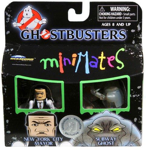 Ghostbusters Exclusive Minimates Mini Figure 2Pack New York City Mayor Subway Ghost
