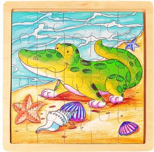 Puzzled Alligator Wooden Jigsaw Puzzle