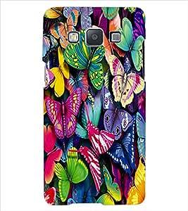 ColourCraft ButterFlies Back Case Cover for SAMSUNG GALAXY E7