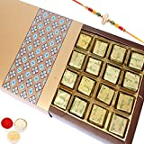 Rakhi Gifts Sweets- Gold 24 Pcs Mewa Bites Box-r1
