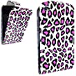 STYLEYOURMOBILE {TM}FOR APPLE IPOD TOUCH 4 4TH GEN STYLISH PINK LEOPARD PRINT LEATHER FLIP CASE COVER POUCH