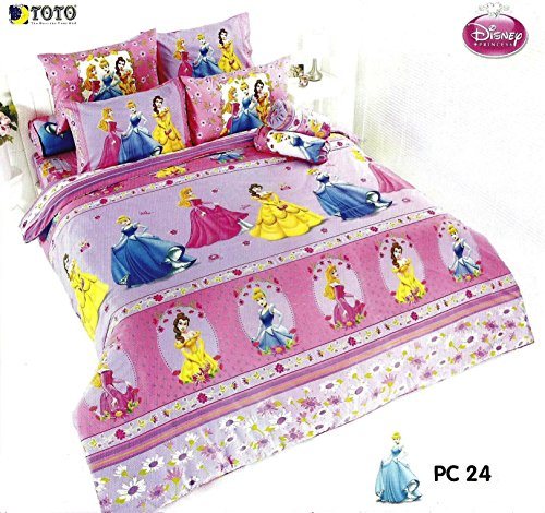 Disney Princess Bedding In Bag Set ; 1 Four Season Comforter With 4 Pieces Of Bed Fitted Sheet Set (Queen Size, Pc24), Pink front-153063