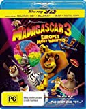Madagascar 3: Europe's Most Wanted (3D Blu-ray/Blu-ray/DVD/Digital Copy) (3 Discs) Blu-Ray