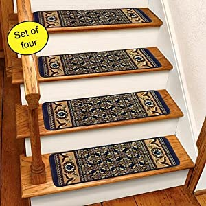Amazon.com: Blue Rug Carpet Stair Treads Set Of 4 CST260B ...